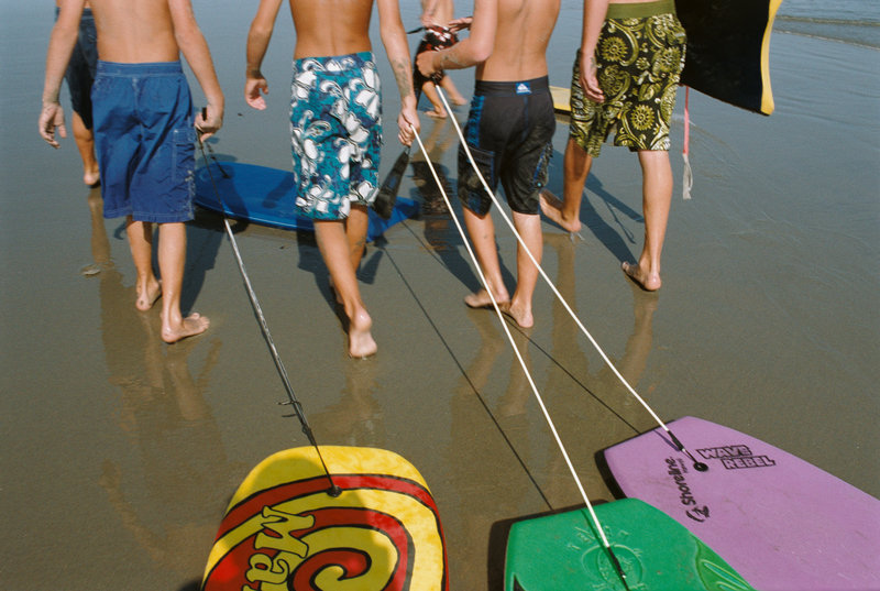 """Boogie Boards,"" photograph c-print by Kathie Florsheim, at Jonathan Frost Gallery in Rockland."