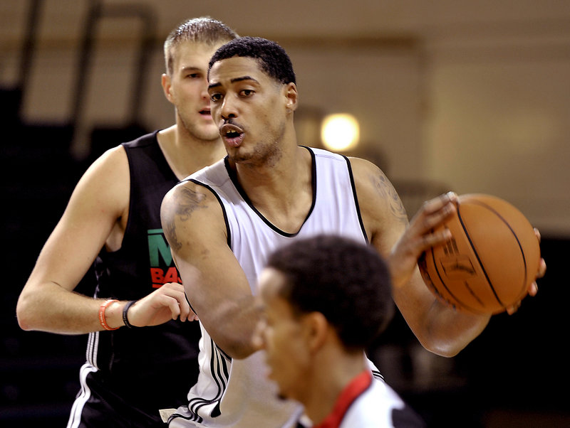 Fab Melo, according to Celtics Coach Doc Rivers, may become dominant for the Maine Red Claws because the D-League, he said, doesn't have numerous big men.