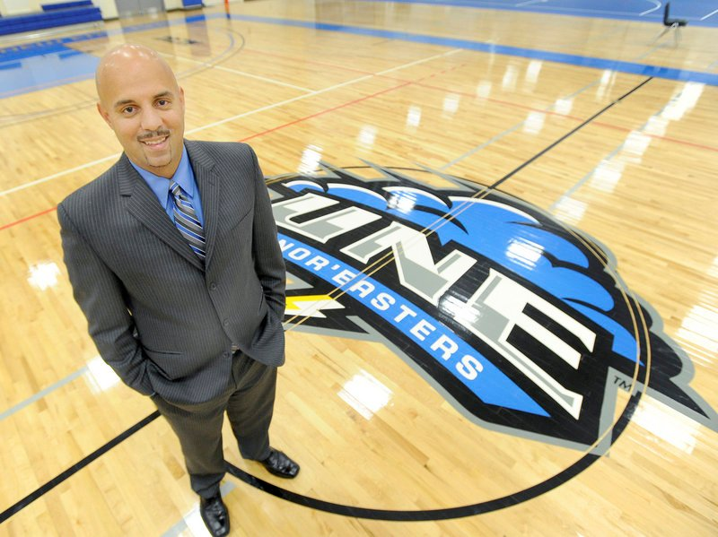 Ed Silva is the new men's basketball coach at UNE, which will play at the new 1,200-seat Harold Alfond Forum this season. UNE has won just 10 games the last two years, but Silva has had success the last seven years at Elms College.