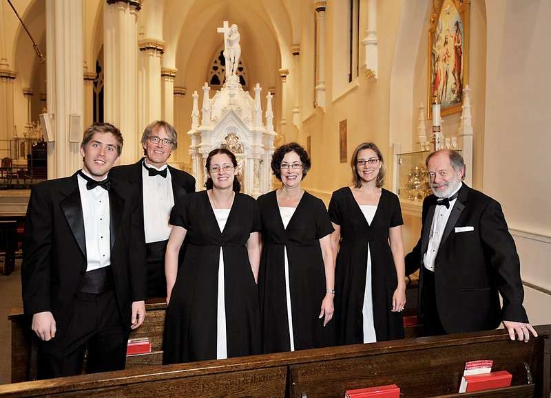 Singers who have more in common than the Choral Art Society: Karl Nordli and Mark Nordli of Portland; Madeline Kapp and Barbara Kapp of Portland; and Elli Lisa of North Yarmouth and Peter Gray of Old Orchard Beach.