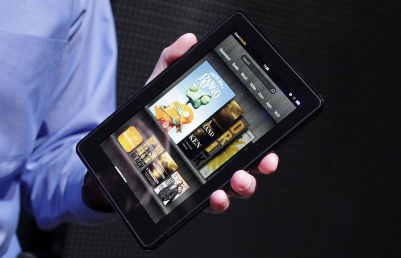 The Kindle Fire from Amazon now sports a camera and speakers on either side of the screen.