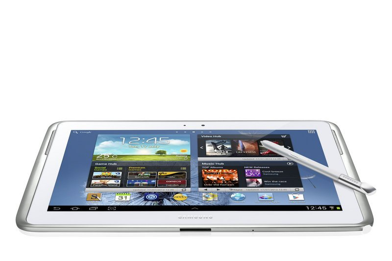 "The Samsung Galaxy Note 10.1 comes with a ""pen."""