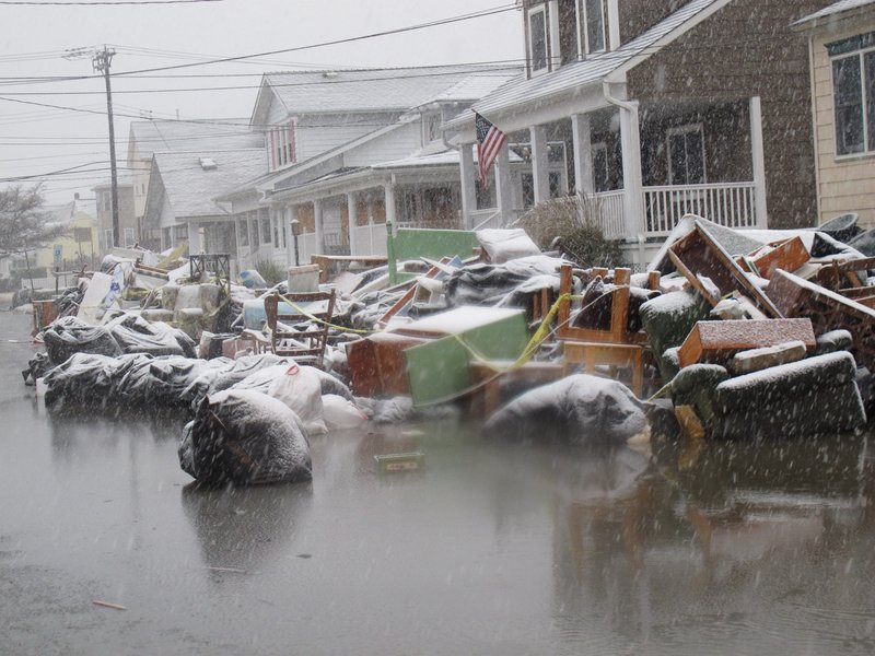 Floodwaters start to return as a nor'easter hits Point Pleasant Beach, N.J., on Nov. 7, after parts of the Jersey shore were devastated by Superstorm Sandy.