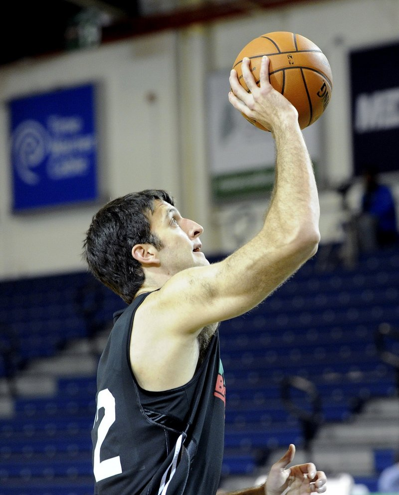 Brian Cusworth of the Maine Red Claws is a 28-year-old center with a Harvard degree, who has hopes of making the NBA and possibilities of becoming a doctor down the road.