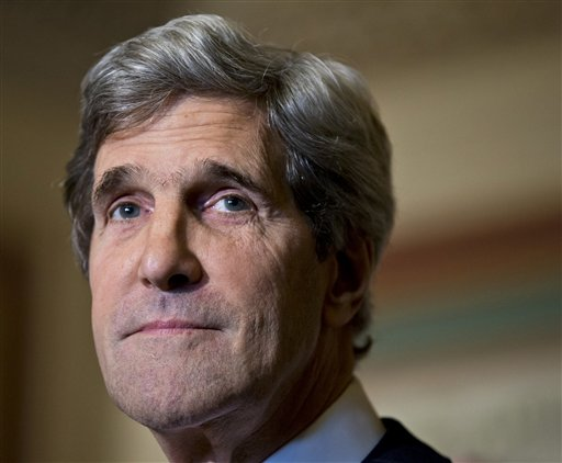 This Dec. 3, 2012, photo shows Senate Foreign Relations Chairman Sen. John Kerry, D-Mass., at a news conference on Capitol Hill.