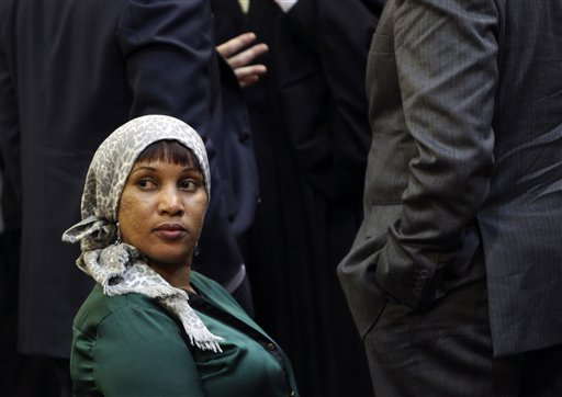 Nafissatou Diallo, a hotel housekeeper who alleged that she was sexual assaulted by former International Monetary Fund leader Dominique Strauss-Kahn, appears in court in New York on Monday.