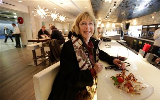 Marty Rapp relaxes recently at at ICE Bar in Terminal 3 at Chicago's O'Hare International Airport.