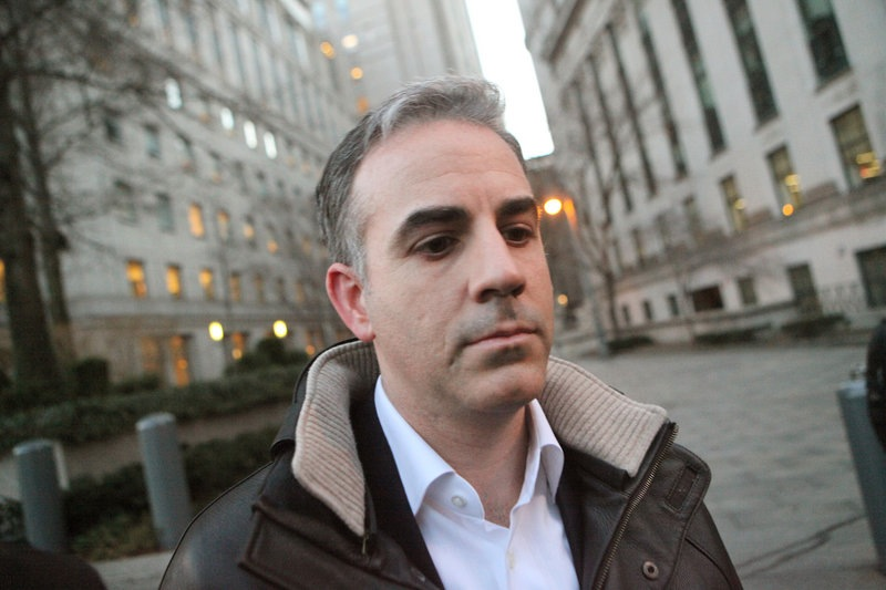 Level Global Investors LP co-founder Anthony Chiasson leaves Manhattan Federal Court in New York after being released on bail on charges of insider trading Wednesday, Jan. 18, 2012. (AP Photo/David Karp)