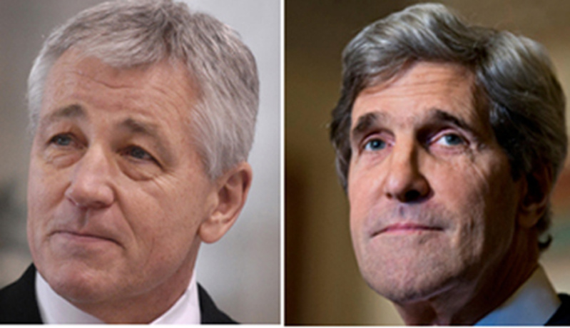 Potential Cabinet picks: Chuck Hagel, left, and John Kerry