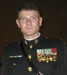 "James ""Bing"" Popkowski, 37, an armed former U.S. Marine from Grindstone who was killed by Maine law enforcement officers Thursday, July 8, 2010 near the Veterans Affairs Medical Center at Togus in Augusta."