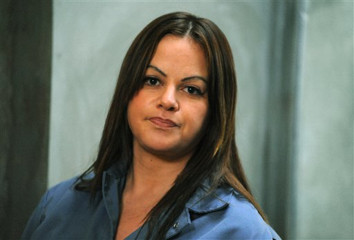 """In this photo released Monday by Indomina Media, singer and actress Jenni Rivera is shown during the filming of her upcoming movie """"Filly Brown."""" The film is expected to be released in the spring of 2013."""