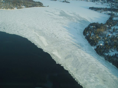 Photo of Rangeley Lake taken Monday morning from a Maine Warden Service aircraft.