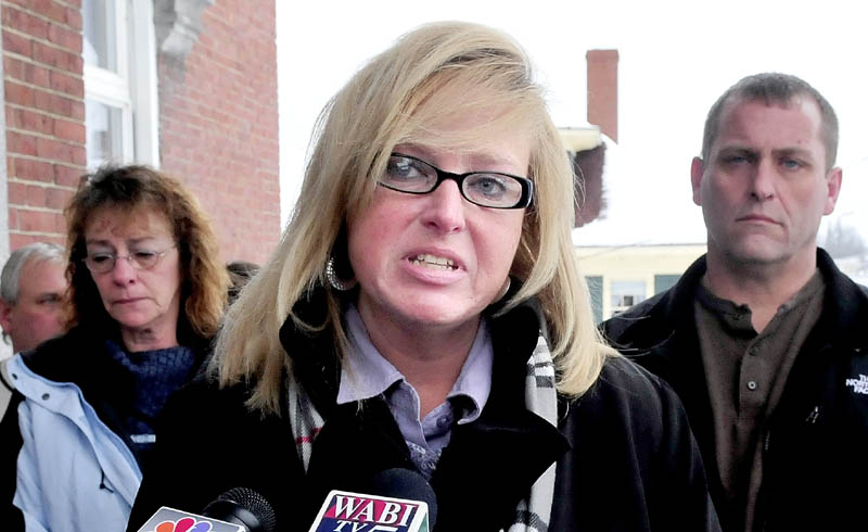 Outside the courthouse, Nicole Sacre, Cameron's daughter, addresses the media after Robert Nelson's conviction.