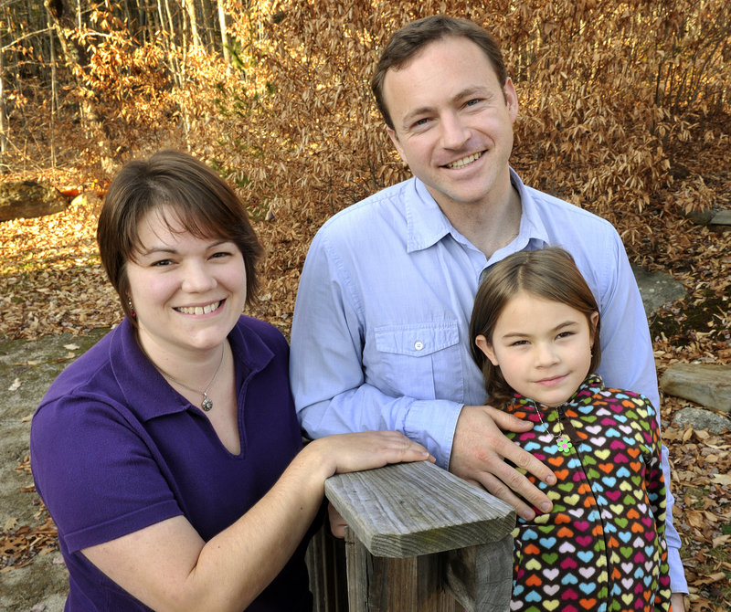 Rep. Mark Eves, D-North Berwick, and his family