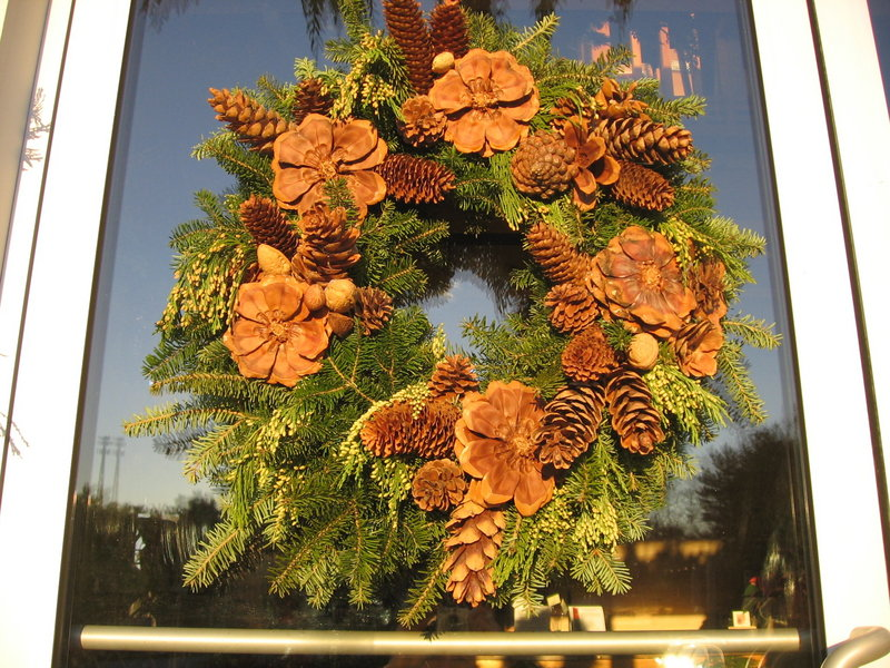 Nuts and pinecones bring natural beauty to this seasonal wreath.