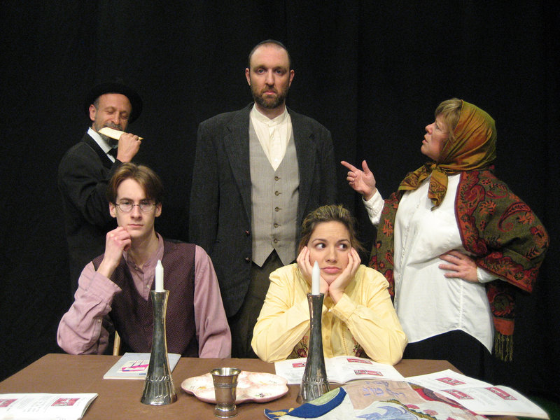 "The cast of ""The Legend of the Golem"" includes, from left, Hal Cohen, Tristan Rolfe, Josh Brassard, Kara Haupt and Brenda Chandler."