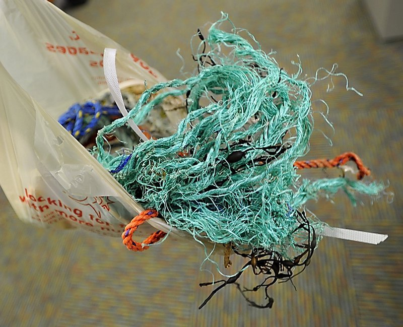Plastic rope and other nonbiodegradable lobster fishing gear not only wash ashore as ugly litter, they also kill marine life, a reader says.