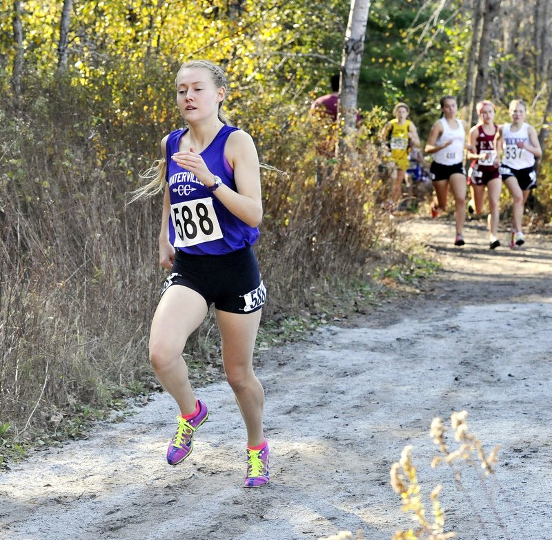 Bethanie Brown of Waterville left her competition far behind at the state championships, finishing nearly a minute faster than any other runner.