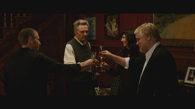 From left, Mark Ivanir, Christopher Walken, Catherine Keener and Philip Seymour Hoffman.