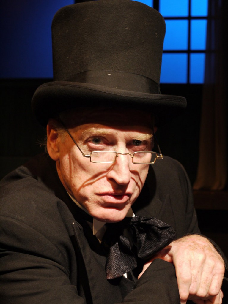 """Joel Leffert is Scrooge in The Public Theatre production of Charles Dickens' """"A Christmas Carol,"""" which opens its three-night, four-performance run on Friday in Lewiston."""