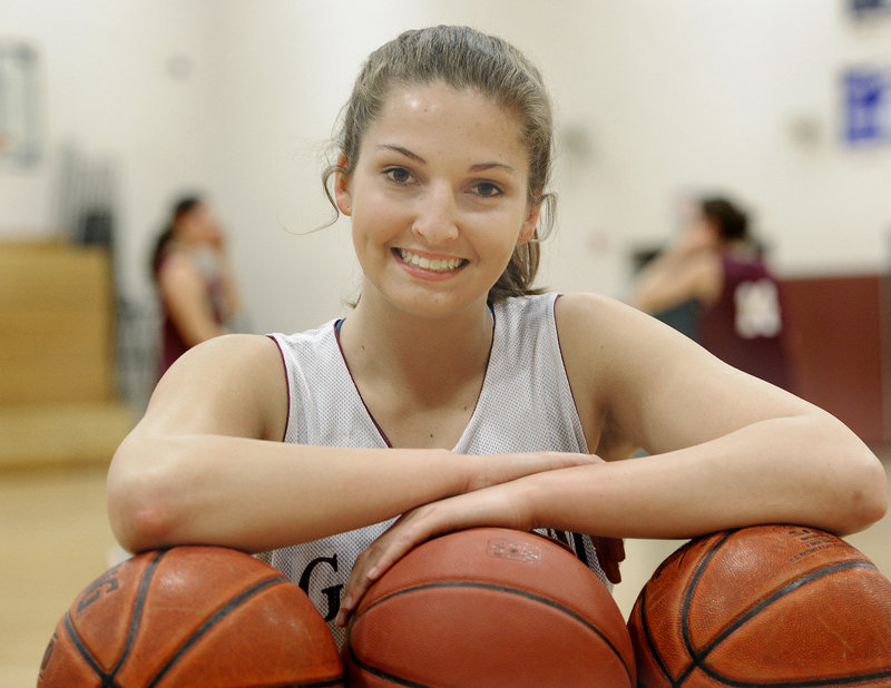 Kristin Ross of Gorham, also headed to Binghamton, credits playing AAU basketball for being noticed.