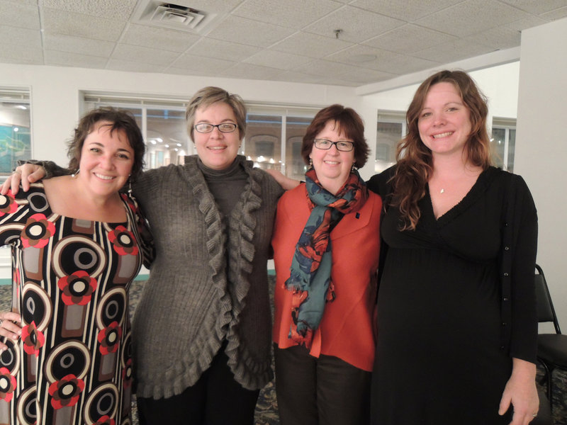 Representing Goodwill Industries of Northern New England, from left, Kimberly Curry, community relations manager; Trendy Stanchfield, director of development; Jane Driscoll, vice president of public affairs; and Michelle Smith, communications manager.