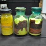 This photo from the Georgia Interior Ministry shows bottles containing yellowcake uranium, which police said was seized in Samtredia, Georgia, on April 5. The yellowcake can be enriched into bomb-grade material.
