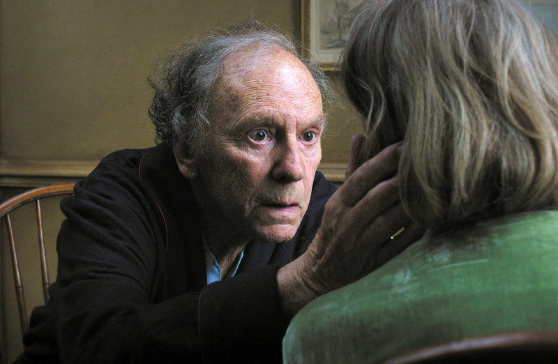 Jean-Louis Trintignant, left, is one of the stars in the Austrian film, 'Amour,' named Sunday as the best film of 2012 by the Los Angeles Film Critics Association in a prelude to the Academy Awards.