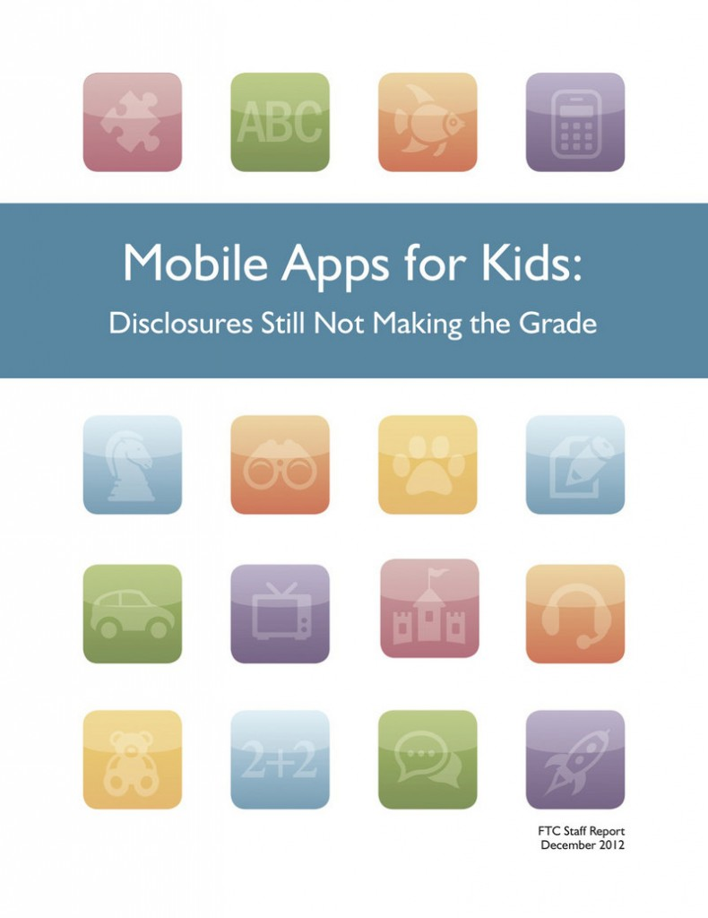 """A guide on parental notice practices, """"Mobile Apps for Kids: Disclosures Still Not Making the Grade,"""" has been published by federal officials."""