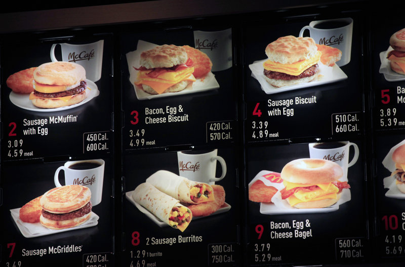 Strong sales of breakfast items helped deliver a positive report for McDonald's restaurants in November.