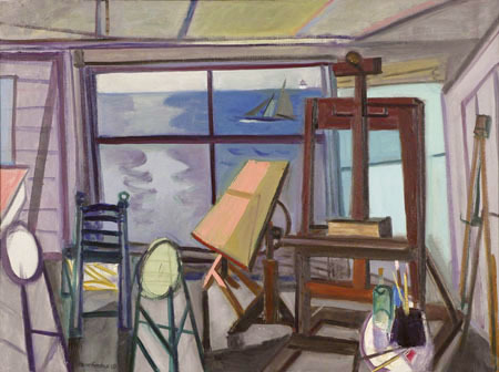 """Bay Studio"" by Maurice Freedman, from ""The Holiday Show,"" continuing through Jan. 18 at Greenhut Galleries in Portland."