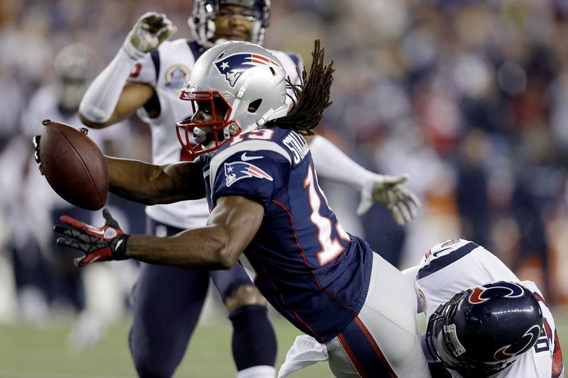 Donte' Stallworth, shown scoring against Houston, is now on injured reserve, but the Patriots will likely have a capable replacement Sunday vs. the 49ers.