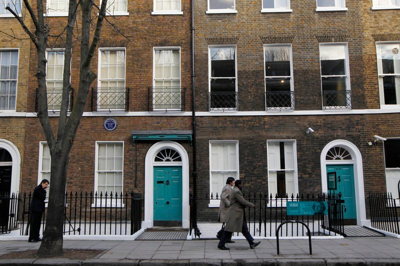 "Charles Dickens' home, left, in the Bloomsbury area of London was a dusty and slightly neglected museum that has been restored to bring the writer's world to life. Its director says it aims to look ""as if Dickens had just stepped out."""