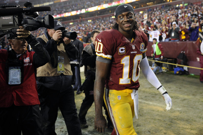 Redskins QB Robert Griffin III injured his knee last Sunday against the Ravens, but he's not saying if he'll play Sunday against the Browns at Cleveland.