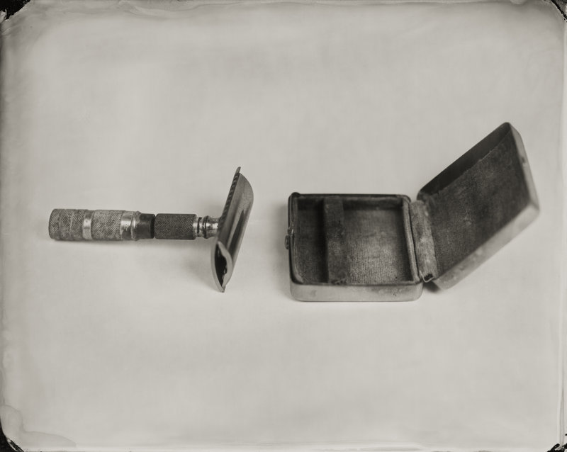 "From ""Between Past and Present,"" ""Razor, Found in Winslow Homer's Studio,"" wet-plate collodion tintype by Keliy Anderson-Staley."