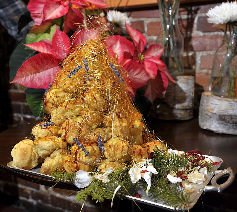 As chef Mitch Gerow proves with this finished product, croquembouche makes a spectacular dessert for the holiday table.
