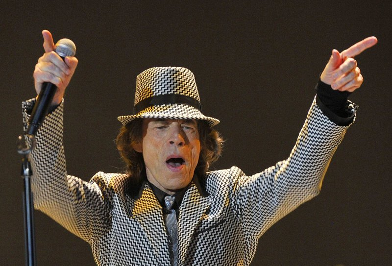 Mick Jagger performs with the Rolling Stones at the O2 Arena in London last month to celebrate the band's golden jubilee.