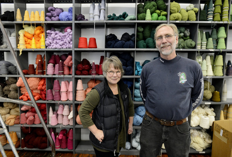 Claudia Raessler and Nick Burnett and two others formed the company that runs the Saco River Dyehouse in Biddeford.
