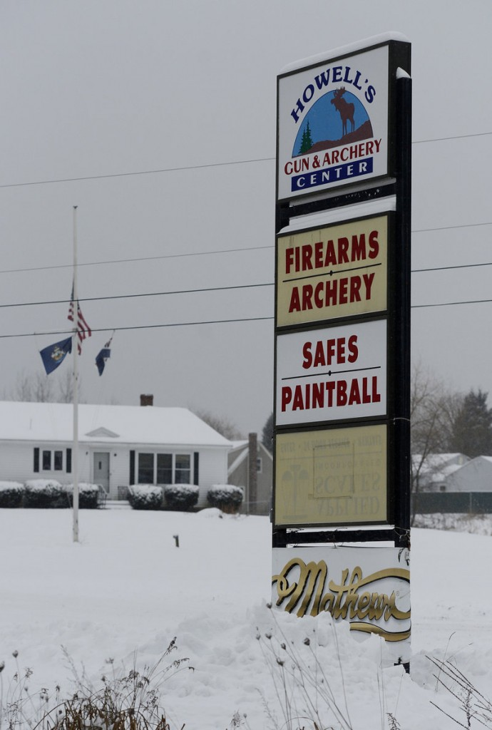 "At Howell's Gun & Archery Center in Gray, Adam Copp, the company president, said Monday that horrific crimes like Friday's school shooting in Newtown, Conn., ""just escalate fears. ... All across America, people feel such uncertainty about morality in general."""