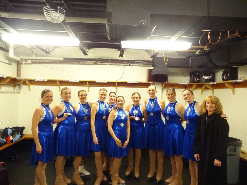Members of the Nor'Easters open adult team, which won its division at the Cape Cod Synchro Classic: Leigh Baker of Somersworth, N.H.; Susan Black of Windham; Kathy Cain of Oxford; Heidi Coffin of Brunswick; Chelsea Ferk of Biddeford; Sue Gagne of Lewiston; Susan Greenwood of Gorham; Sarah Lawsure of Scarborough; Meghan Morrissey of Gray; and Caroline Paras of Portland; with coach Lori Johnson of Portland.