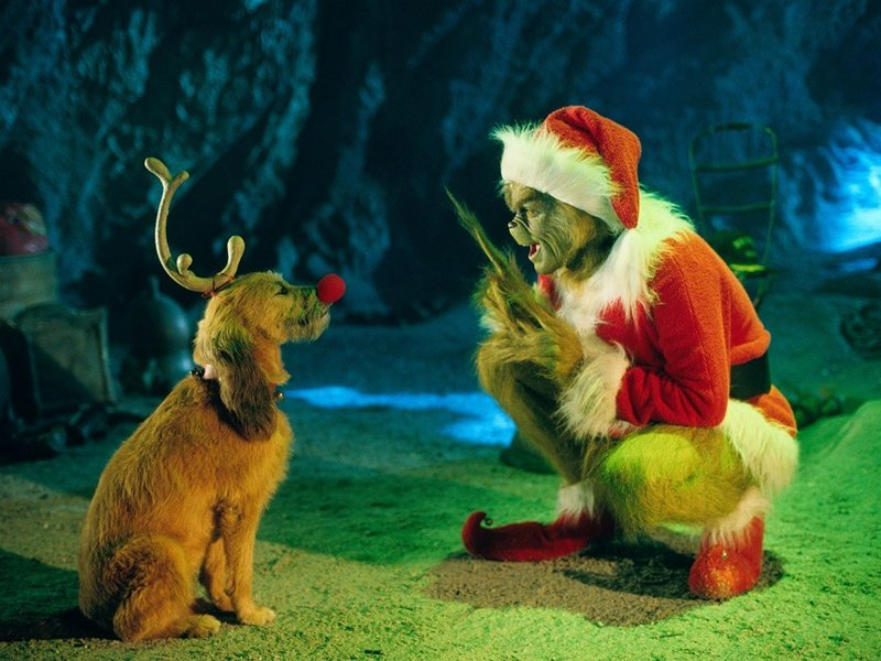 "Jim Carrey stars in the live-action ""Dr. Seuss' How the Grinch Store Christmas,"" airing Christmas Day."