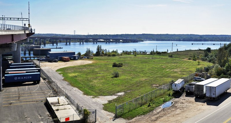 The proposed site of a new Fore River boatyard is at 40 West Commercial St., just west of the Casco Bay Bridge, at left. The business, called Canal Landing, would encompass about 22 acres and do work on tugboats, barges and commercial craft.