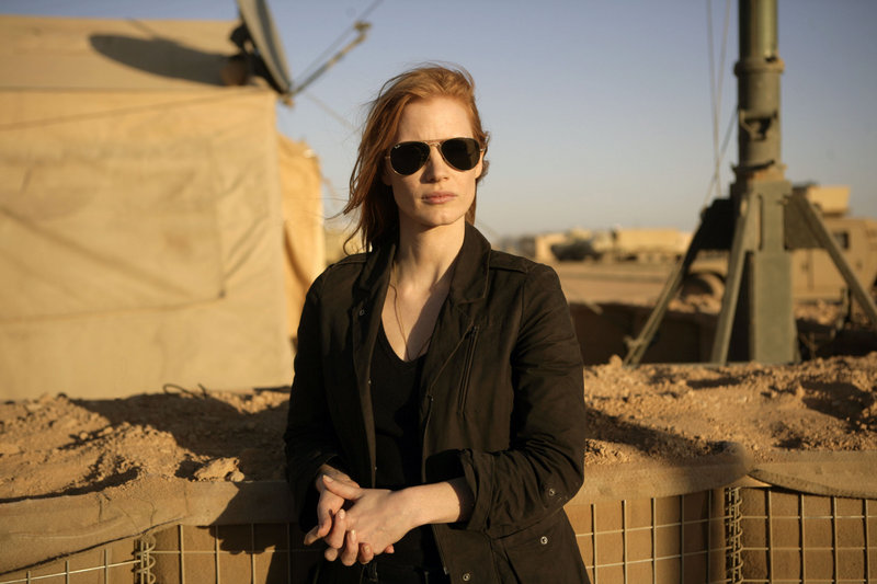 "Jessica Chastain stars in ""Zero Dark Thirty"" as a mid-level CIA operative in Islamabad, Pakistan."
