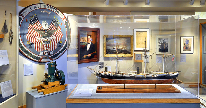 Maine Maritime Museum in Bath opens a new exhibit that includes this model of the U.S.S. Kearsarge, best known for sinking the Confederate sloop Alabama off the coast of France during the American Civil War.