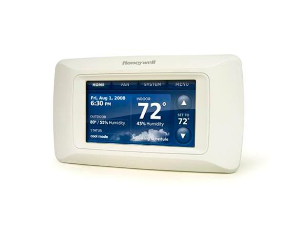 Smart thermostats like this one from Honeywell work in conjunction with homeowners' wireless Internet, take note of manual temperature adjustments and other information, and adjust temperature based on that input.