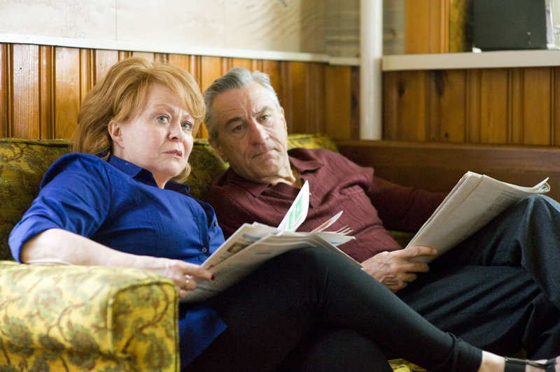 Jacki Weaver and Robert De Niro are Pat's parents.