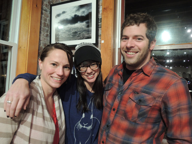 Ellie Burke and photographer Leah Arsenault of Portland, and surfer Brent Rand of Cape Elizabeth.