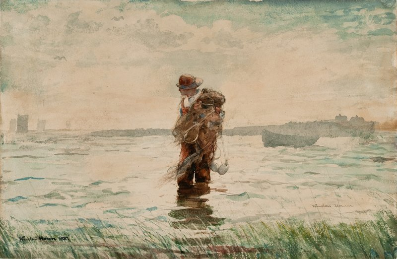 """Bringing in the Nets"" from the Portland Museum of Art's exhibit, ""Weatherbeaten: Winslow Homer and Maine."""