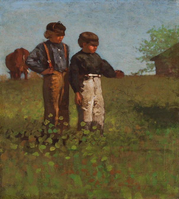 "Winslow Homer's ""Young Farmers (Study for 'Weaning the Calf'),"" 1873-74"