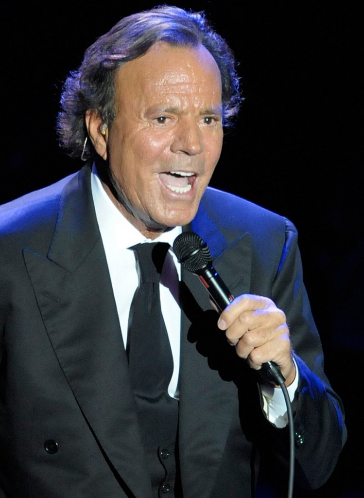 Spanish singer Julio Iglesias performs during a concert at the Cap Roig festival in Calella de Palafrugell, Spain, in 2008.